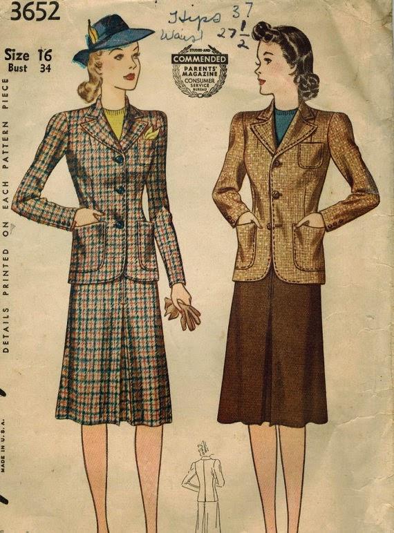 Flshback Summer: 6 Reasons 1930s-1960s Suits Pone Modern Suits - Midvale Cottage 1940s Suit