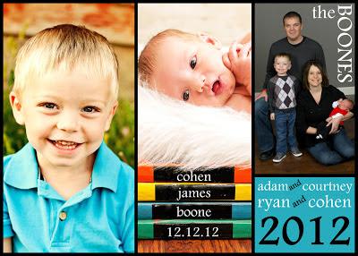 COBO Christmas CardBaby Announcement