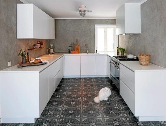 Marta decoycina baldosas hidraulicas aire antiguo para un concepto moderno - Suelos para cocinas modernas ...