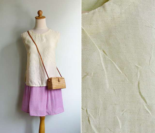 vintage raw silk blouse