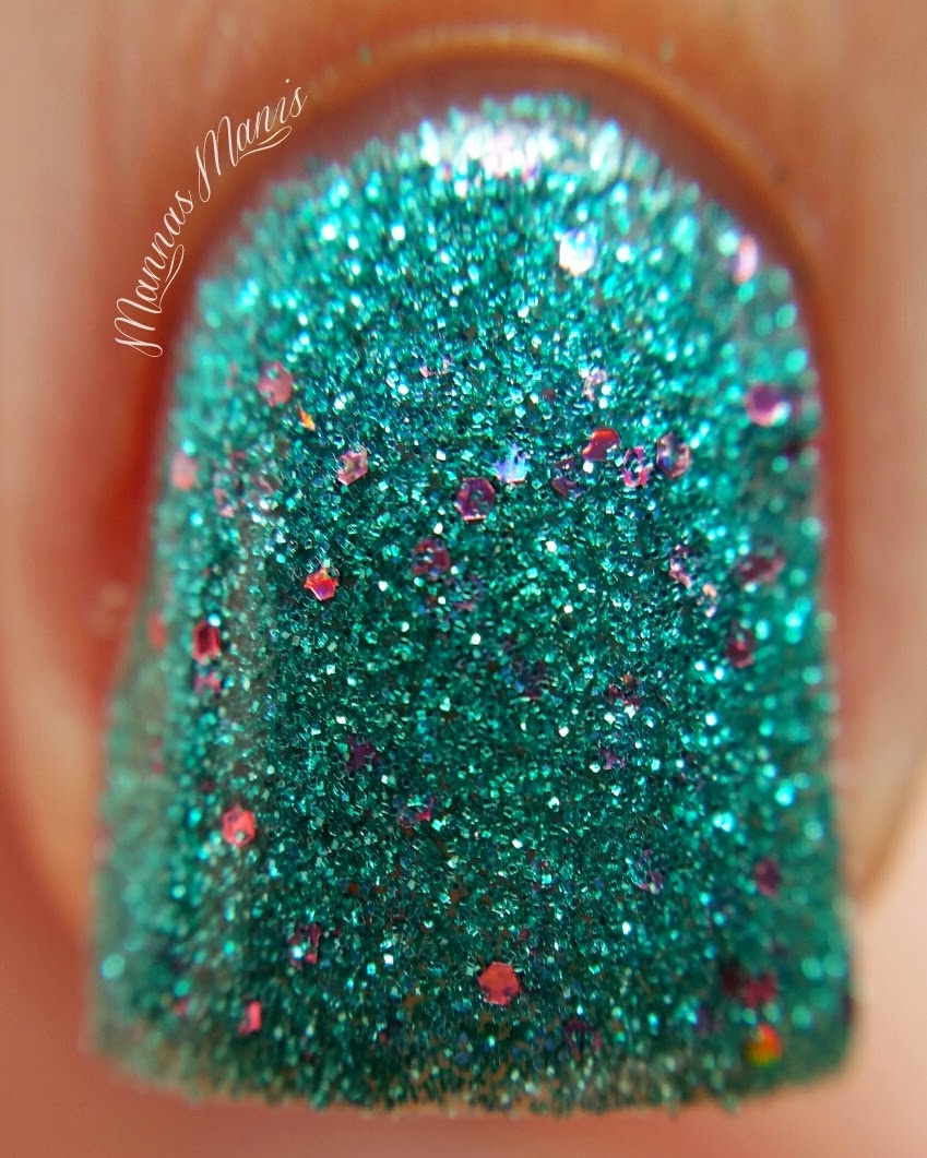 orly steal the spotlight, a teal glitter nail polish