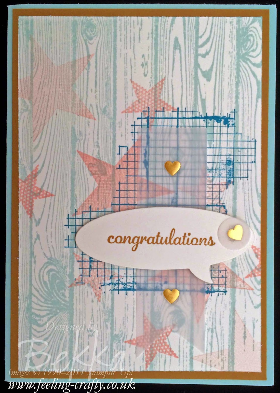 Congratulations Card made with Stampin' Up! Supplies - check this blog for lots of great ideas