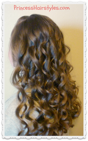 Curling wand curls, how to video