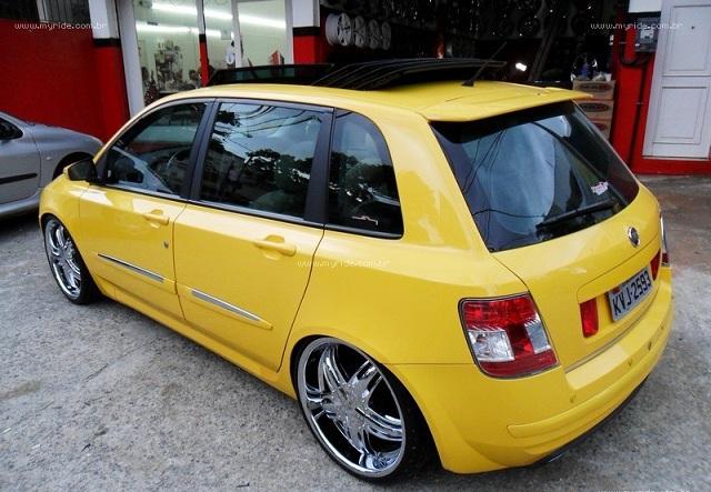 palio g4 equipado rodas aro 18 stilo rodas Car Tuning