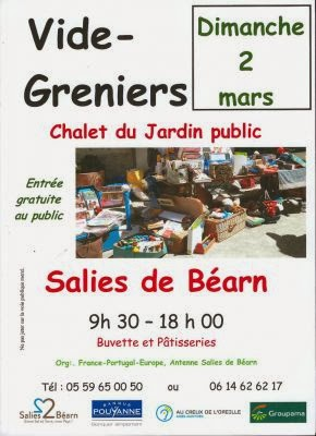 Vide-grenier à SALIES DE BEARN   organisé par l'Association France-Portugal
