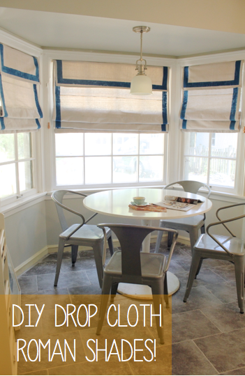 Bluet Amp Clover Making Drop Cloth Roman Shades