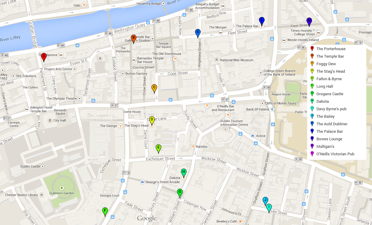 Http www achelsekluis org general home html - This Crawl Focuses On The City S Compact Center At The Mouth Of The River Liffey And Takes You On A Literally Intoxicating Jouney Through The Fine Ales