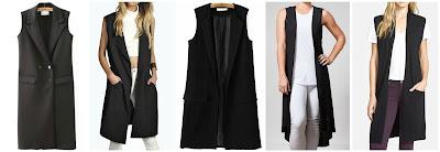 Romwe Lapel Double Breasted Long Vest $24.67 (regular $46.08)  Boohoo Camila Sleeveless Fluid Trench $26.00 (regular $44.00) similar  Romwe Long Slim Vest with Pockets $26.33 (regular $49.67)   Bungalow 20 Black Sleeveless Duster $28.00 (regular $48.00)  Halogen Long Open Front Sweater Vest $64.00