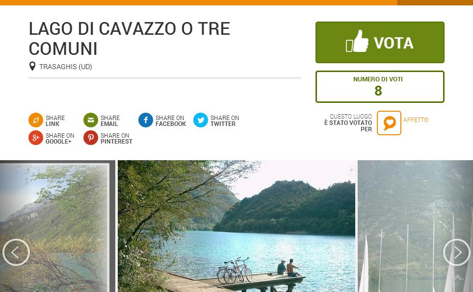 """Vota il Lago su """"I luoghi del cuore"""""""