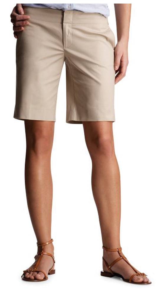 Long Khaki Shorts Womens