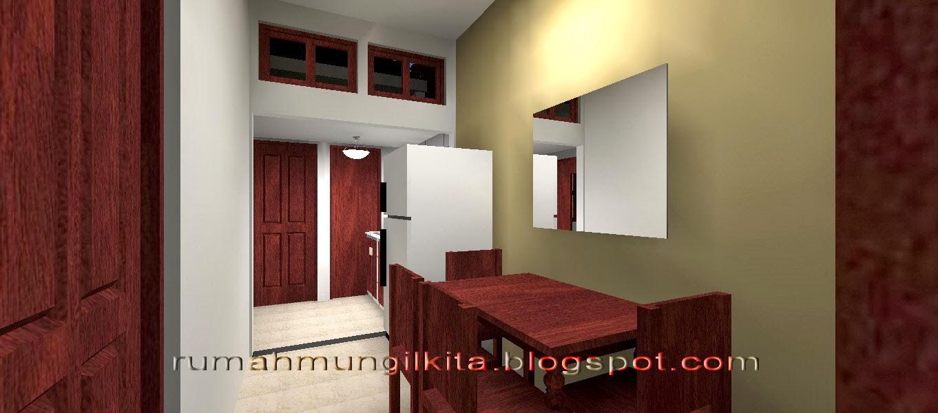 rumah lebar 4 meter, 3 kamar tidur - ruang makan