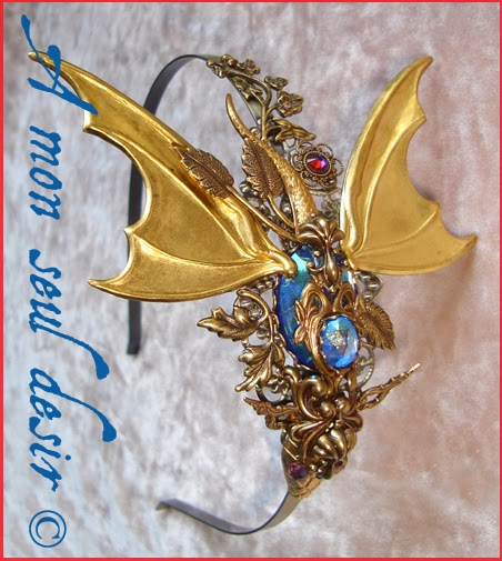 Serre-tête Bijou Cheveux Dragon Coiffure Medieval Game of Thrones Khaleesi Headdress Headband Daenerys Targaryen Smaug