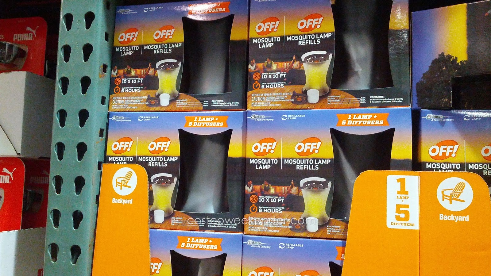 Ward Off Pesky Mosquitoes With The Off! Mosquito Lamp Including 5 Refills