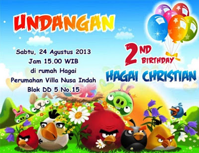 Kartu undangan ulang tahun anak