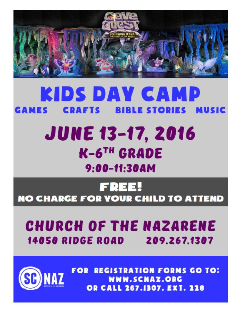 Kids Day Camp - June 13-17