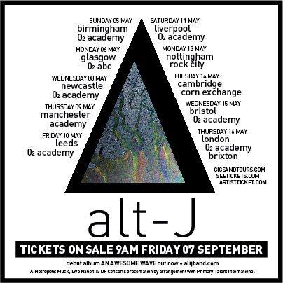 Alt j tour dates in Melbourne
