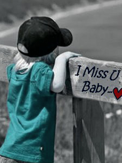 Download I Miss You Boy 240x320 Alone Sad Mobile Wallpapers Free