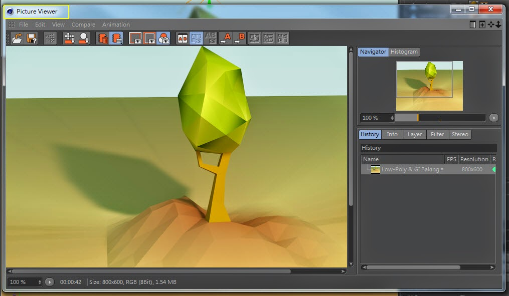 Low-Poly & GI Baking in Cinema 4D 17