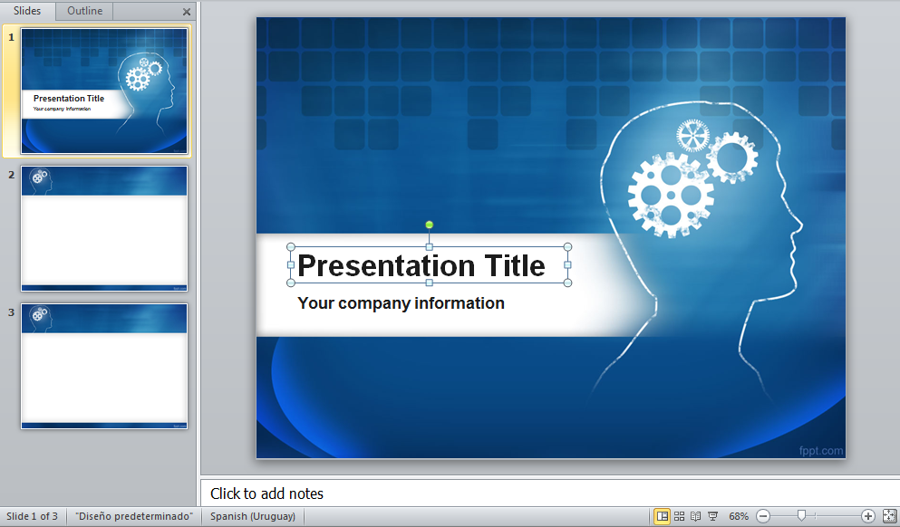 Powerpoint Template Offres De Stage