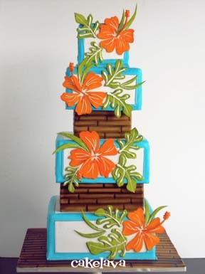 Dramatic Floral Birthday Cakes