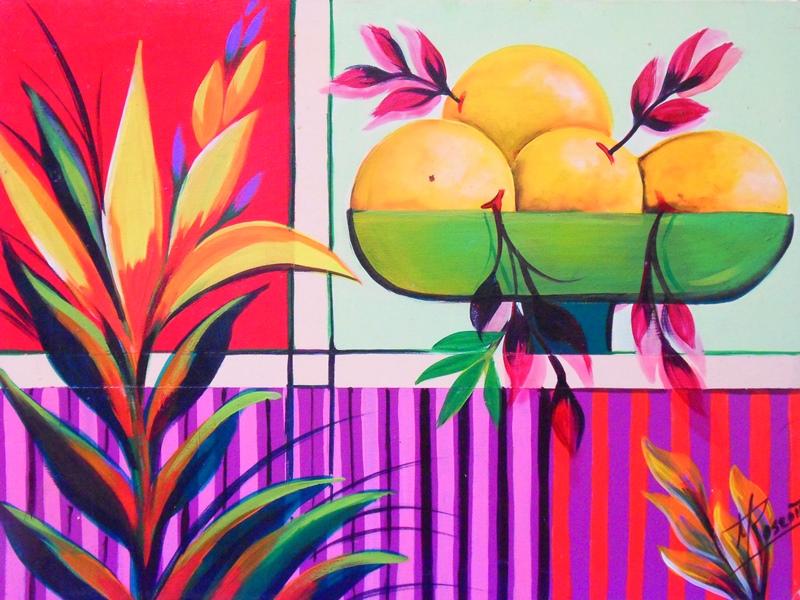 Im genes arte pinturas arte en bodeg n moderno pintado - Pintar un cuadro moderno ...