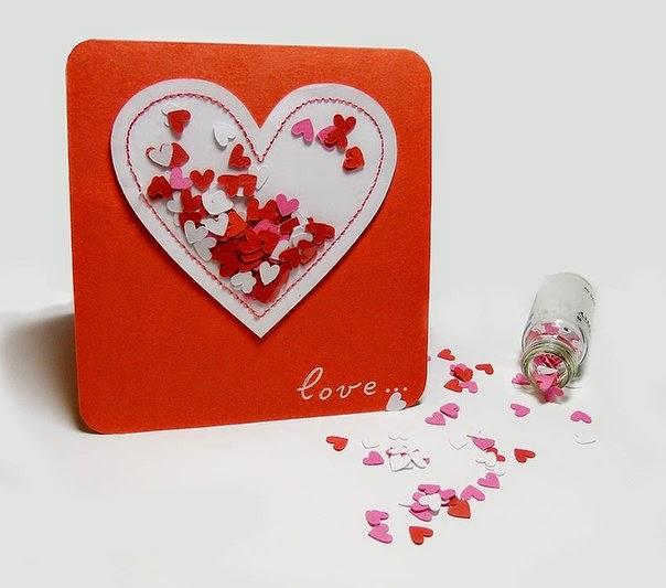 Открытку день влюбленных своими руками