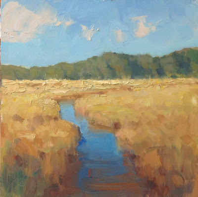Autumn Gold painting on panel by Steve Allrich #landscape #painting