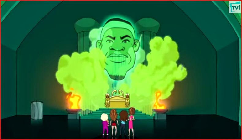 LeBron James Hot in Cleveland animated episode animatedfilmreviews.filminspector.com