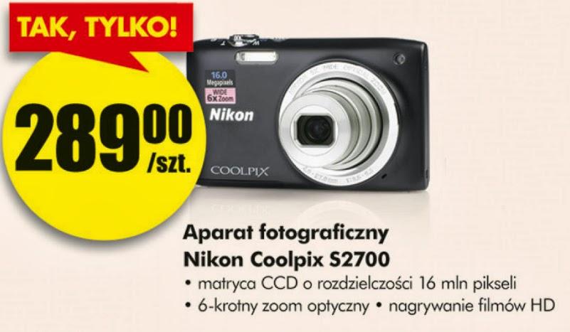 Aparat fotograficzny Nikon Coolpix S2700 z Biedronki ulotka