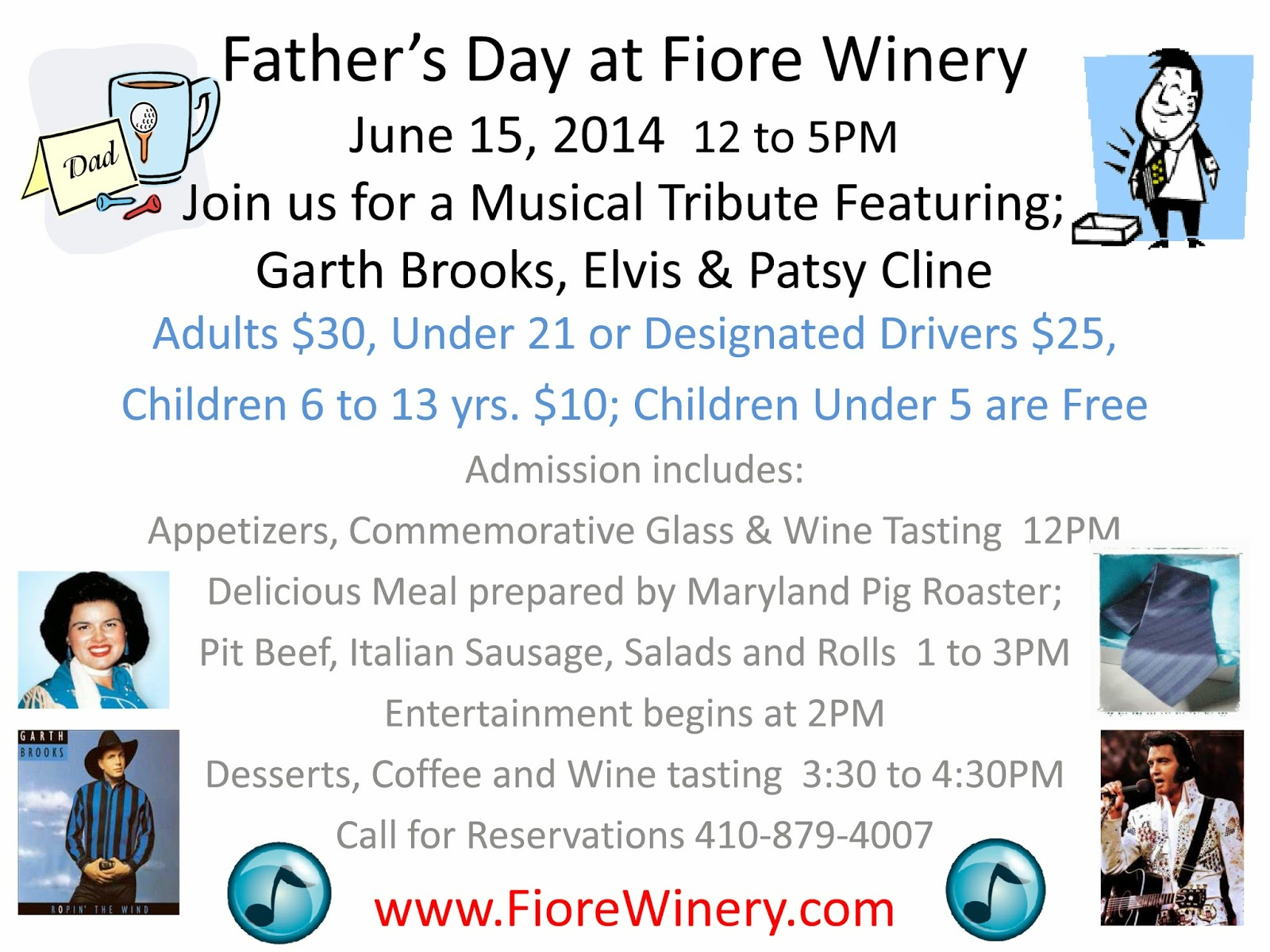 Fiore Winery Father's Day