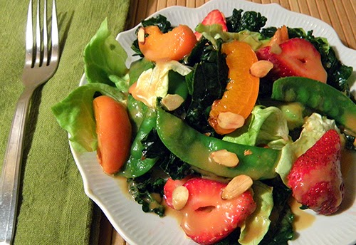 Plated Kale Fruit Salad