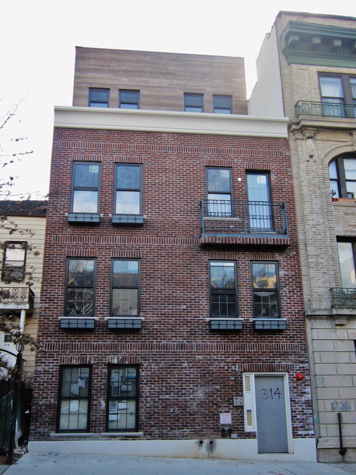 brick apartment building balcony viewing gallery