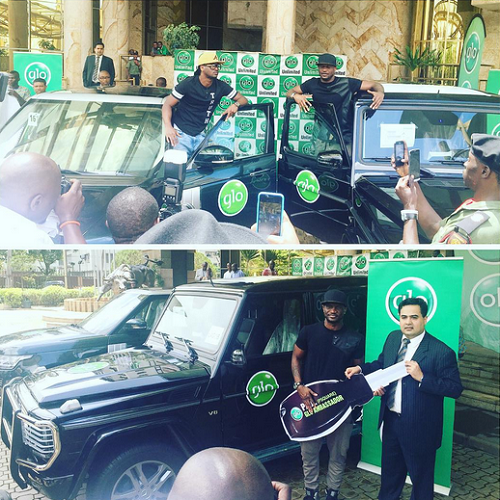 P Square gets brand new G Wagon and Range Rover Sports in Glo Deal!