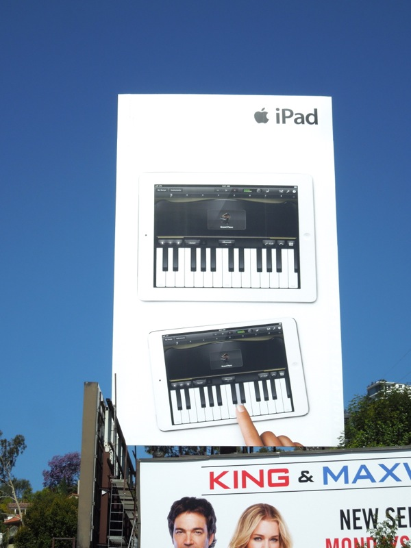 Giant iPad piano billboard