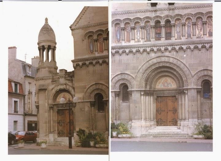 Biserica St Joseph, Enghien les bains,unde mergeam la liturghie cu Anne-Marie Scotto, in 1991