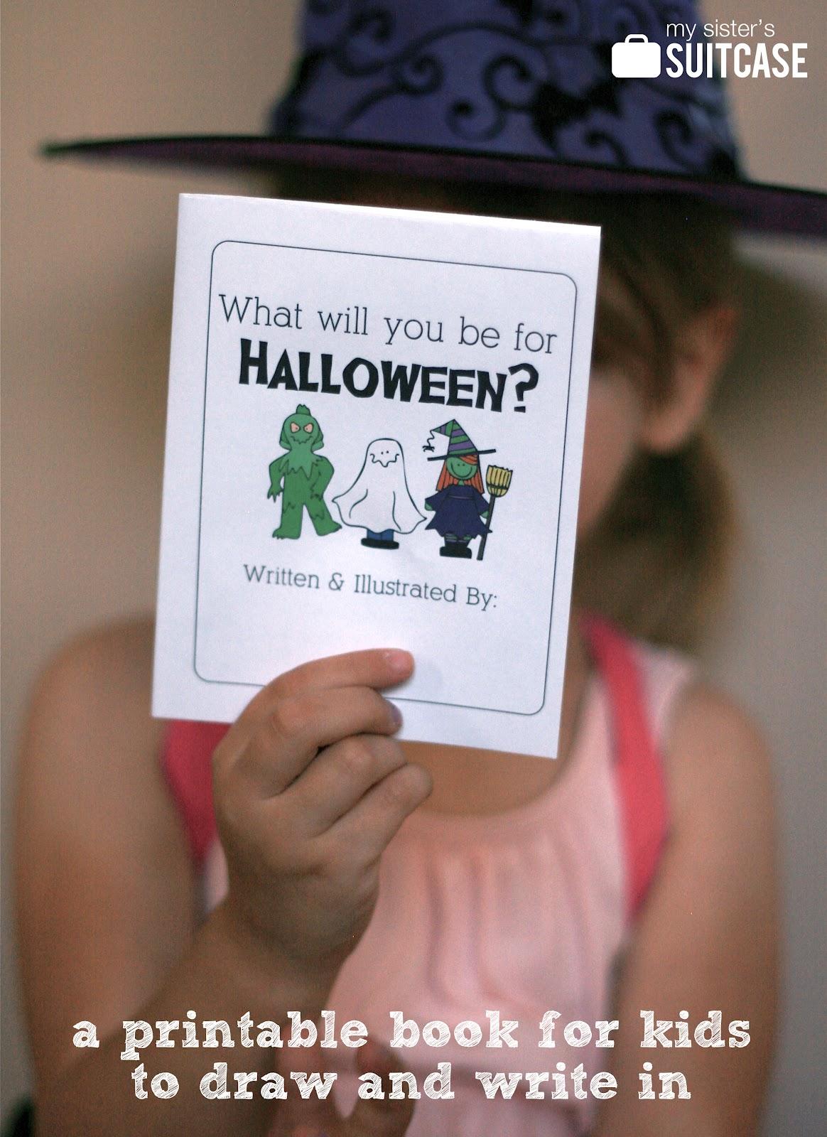 halloween kids printable book the idea room