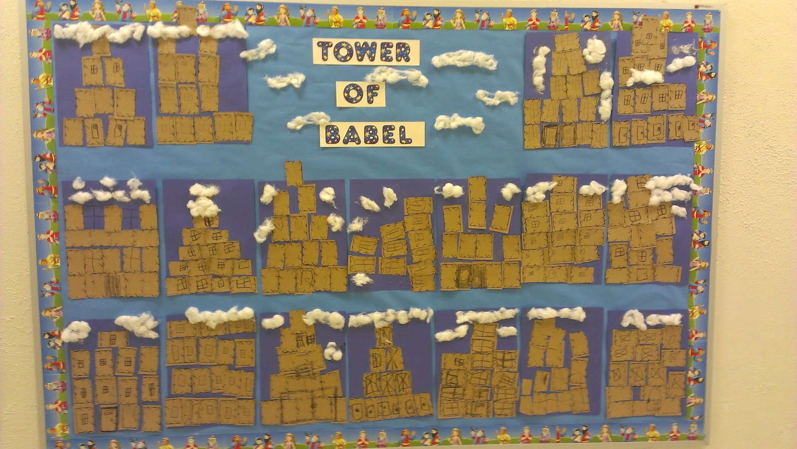 Tower Of Babel Craft Ideas http://cathedralkindergarten.blogspot.com/2012/09/t-is-for-towers.html