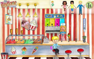 Screenshots of the My playhome stores for Android tablet, phone.