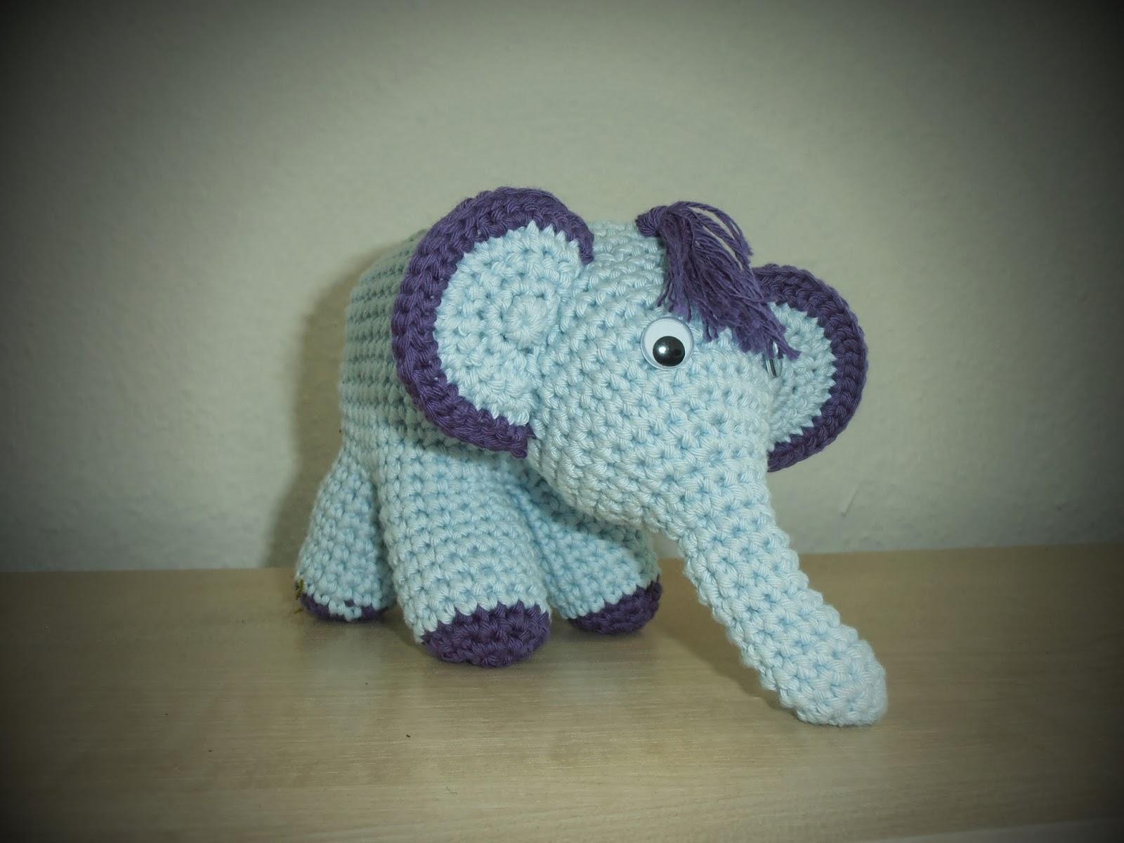 lille hæklet elefant opskrift
