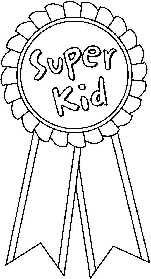 Free Award Ribbon Coloring Pages Ribbon Coloring Page