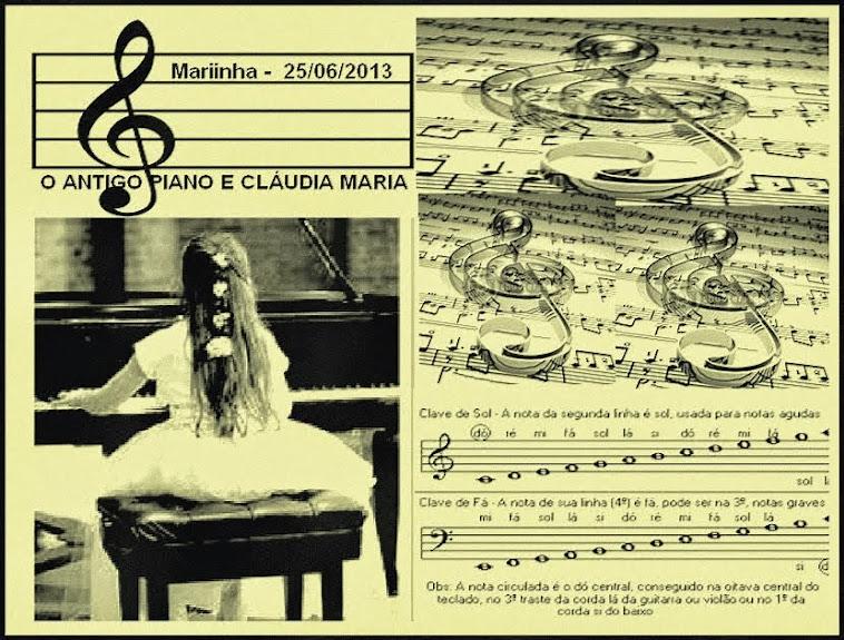 O PIANO E CLÁUDIA MARIA