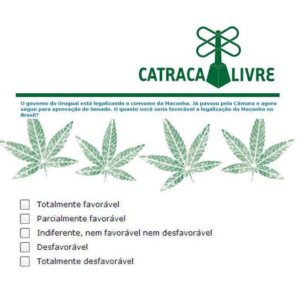 Você seria favorável à legalização da Maconha no Brasil?