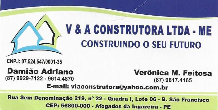 V & A CONSTRUTORA