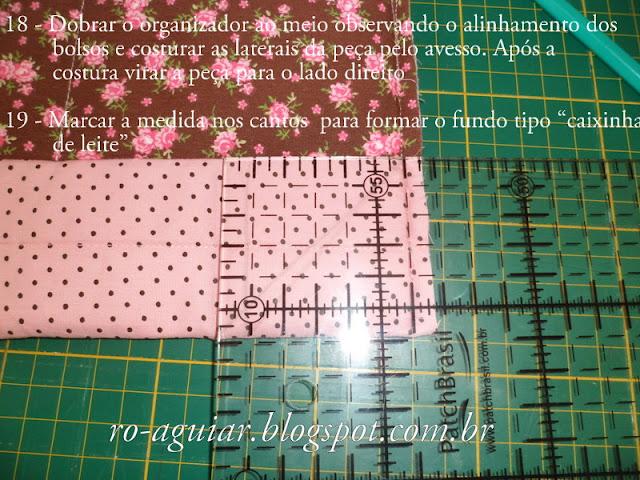 organizador de bolsa em patchwork com PAP (DIY)