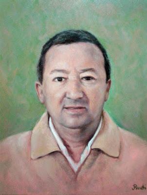 retrato hombre masculino pintora Rudi
