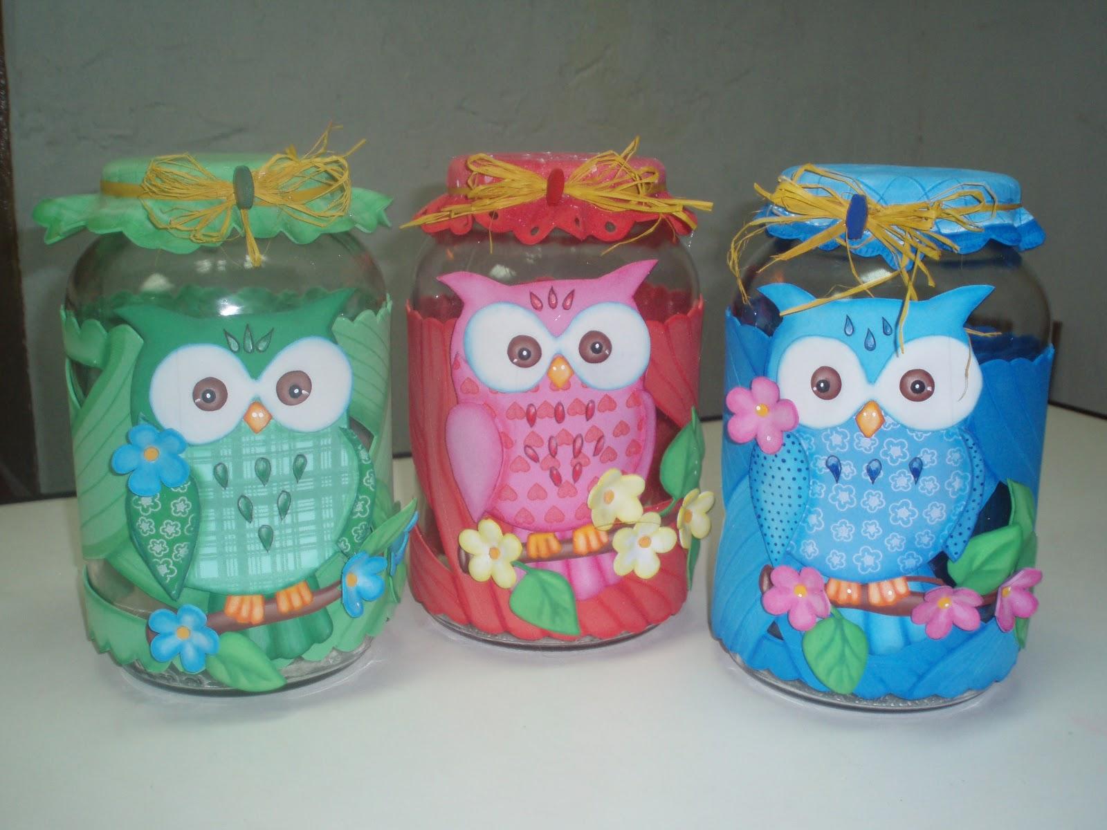 Manualidades para ti vidrios decorados con lechuza feliz - Papel para vidrios ...