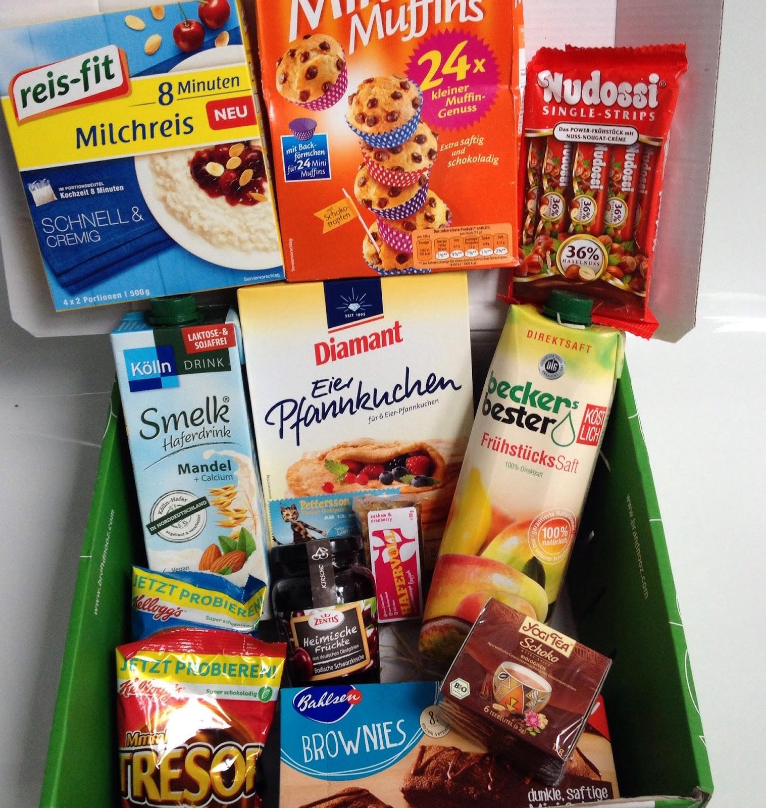 Lebensmittel, Überraschung, Box, Frühstück