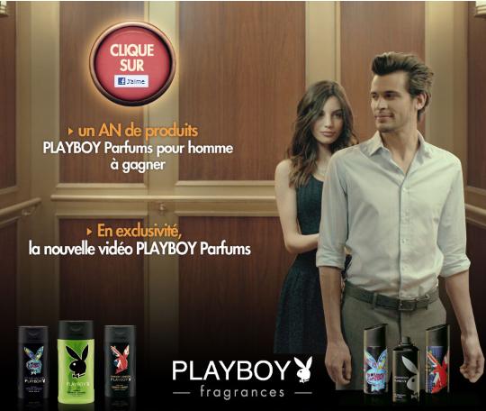 Jeux concours: 80 lots de produits Playboy Parfums pour homme à gagner bon plan