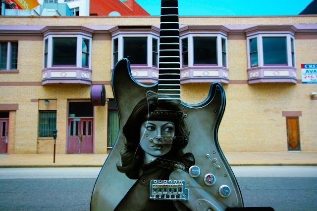 One of the pieces of guitar art on the streets of Cleveland, Ohio during Guitar Mania.