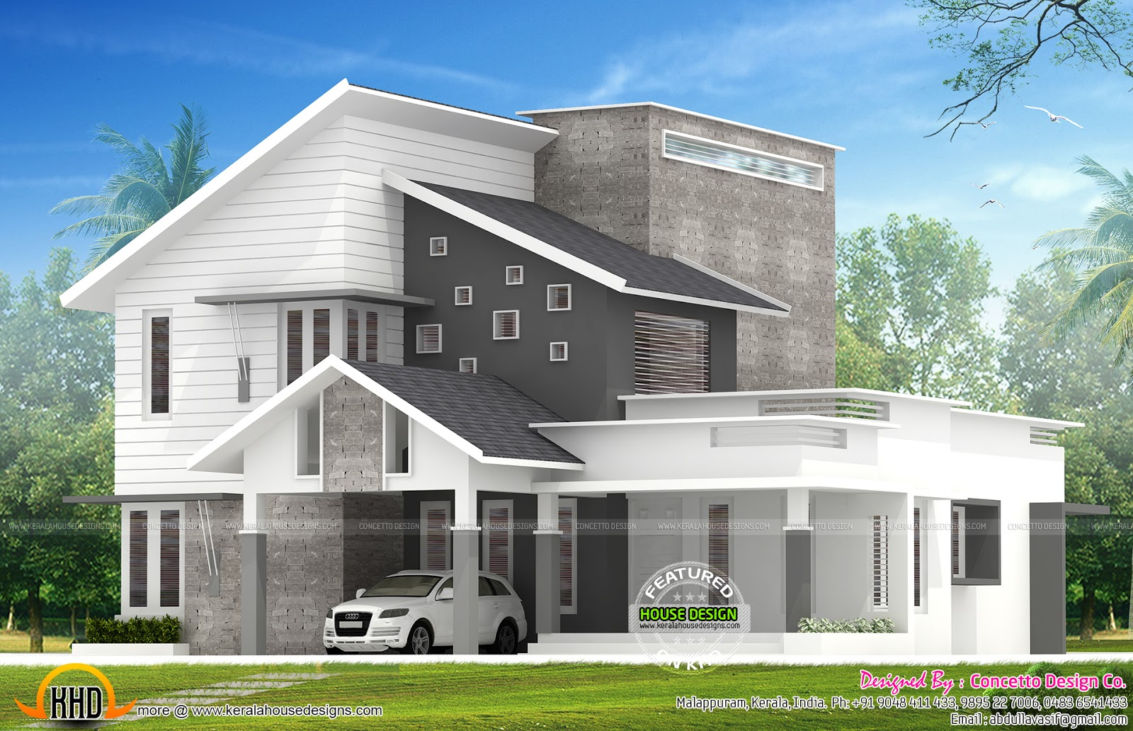1958 sq ft beautiful modern house kerala home design and for 4 bhk house plans kerala
